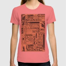 Down with the Shine Womens Fitted Tee Pomegranate SMALL