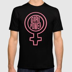 Girl Power SMALL Mens Fitted Tee Black