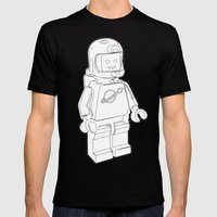 Vintage Lego Spaceman Wi… Mens Fitted Tee Black SMALL