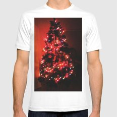 Christmas Tree. White SMALL Mens Fitted Tee