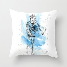 Solo of clarinet Throw Pillow
