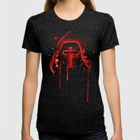 Bad Grandson Watercolor Womens Fitted Tee Tri-Black SMALL