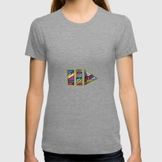 PlayPause Womens Fitted Tee Tri-Grey SMALL