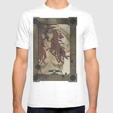 Medusa print White Mens Fitted Tee SMALL