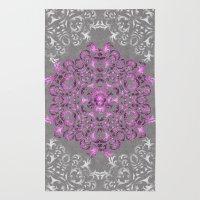 Mandala Pattern With Gli… Rug