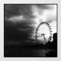 Canvas Print featuring London eye by SABOTAGE
