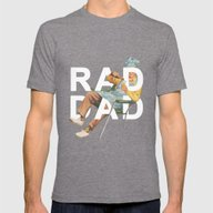 Rad Dad Mens Fitted Tee Tri-Grey SMALL