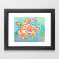 Circle Turtle Framed Art Print