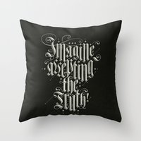 Imagine Accepting The Tr… Throw Pillow