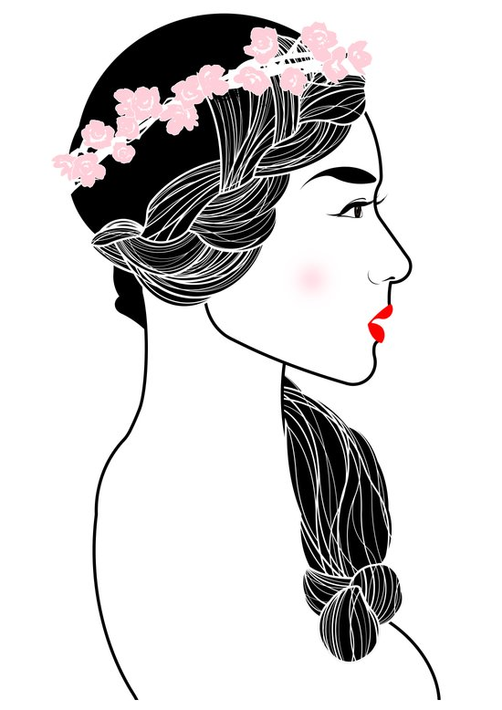 Cherry Blossom Girl. Canvas Print