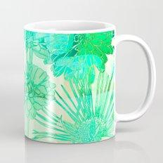 turquoise floral Mug