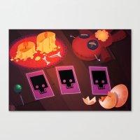 Voodoo table Canvas Print