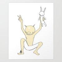 PIGGYMAN (SAVED RABBIT S… Art Print