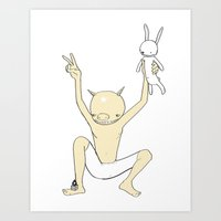 PIGGYMAN (SAVED RABBIT S… Art Print