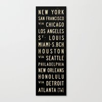 United States Bus Scroll Canvas Print