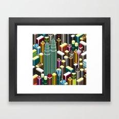 KL City Framed Art Print