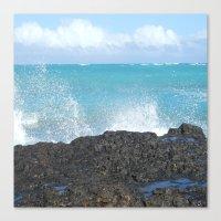 Oahu: Splash 1 Canvas Print