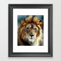 LION - Aslan Framed Art Print
