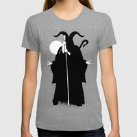 Death Womens Fitted Tee Tri-Grey SMALL