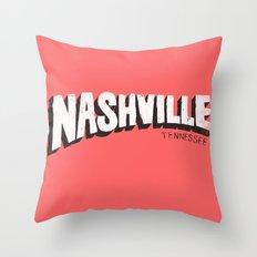 NASHVILLE, TN Throw Pillow