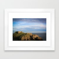 Castle out at sea. Framed Art Print