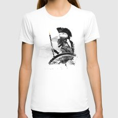Oboe Warrior Womens Fitted Tee White SMALL