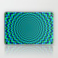 Pulse in Blue and Green Laptop & iPad Skin