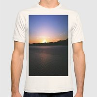Sunset in Alaska Mens Fitted Tee Natural SMALL