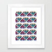 Di∆mond Repe∆t Framed Art Print