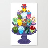 The Princess Cupcake Collection II Canvas Print