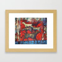 Street Dogs. Framed Art Print