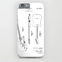 guitar iPhone & iPod Cases featuring Guitar by Patent Drawing