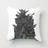 Swallow In The Sea Throw Pillow