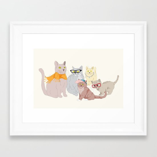 Accessory Cats Framed Art Print