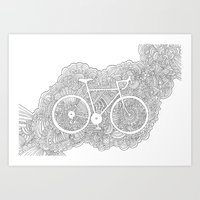 Bike Drawing Meditation Art Print