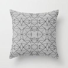 Abstract Mirror Black on White Throw Pillow