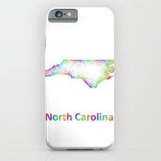 Rainbow North Carolina map Slim Case iPhone 6s