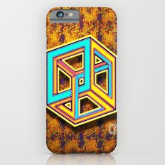DIFORCE #3 Impossible Triangle Psychedelic Optical Illusion iPhone 6 Slim Case