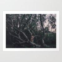 Loving tree Art Print
