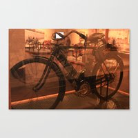 The Dawn Of Motorcycles Canvas Print