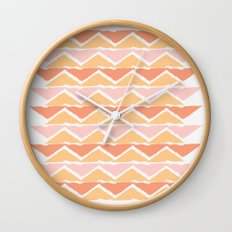 triangle sunset Wall Clock