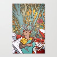 A ride and a song Canvas Print