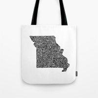 Typographic Missouri Tote Bag
