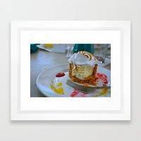 Key Lime Pie Framed Art Print