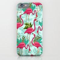 Pink Flamingos Exotic Birds iPhone 6 Slim Case