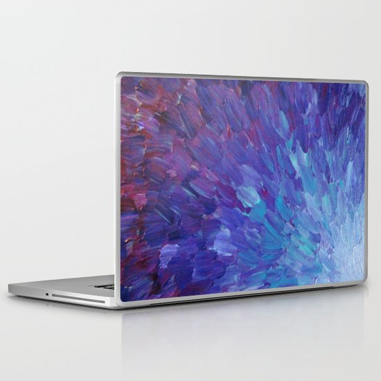 SCALES OF A DIFFERENT COLOR - Abstract Acrylic Painting Eggplant Sea Scales Ocean Waves Colorful Laptop & iPad Skin