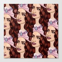 Tessellated Lady G Canvas Print