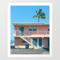 The Breezy Palms Art Print