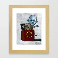 Charlie in the Box Framed Art Print