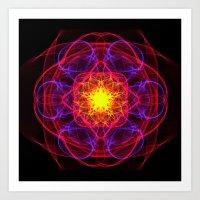 Silkweave / Neon Sigil 1 Art Print
